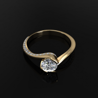 Gold Banded Engagement Ring
