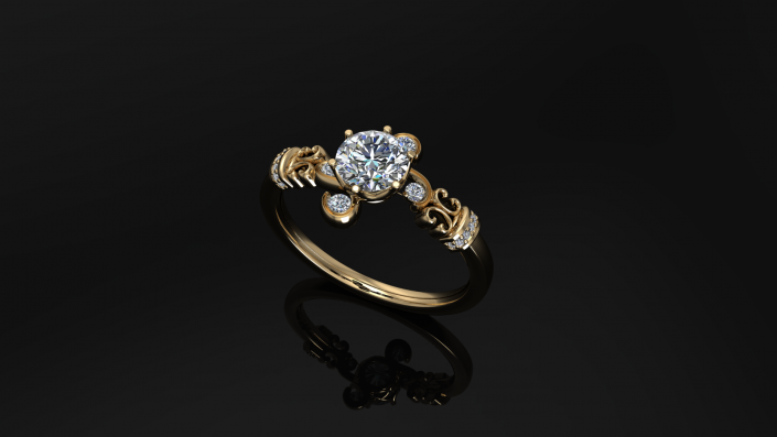 This ring has a sense of class as it takes you on a journey through its beauty.  Its unique style allows it to stand apart from your everyday design.