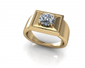 This gold band shows a beautiful sense of dimension as it contrasts the shapes within it.